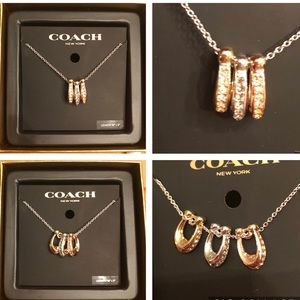 COACH Necklace Tri Color!Gold/ Rose/Silver Plate